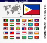Flags Of Asia Collection  Blac...