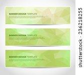set of trendy green eco vector...   Shutterstock .eps vector #236218255