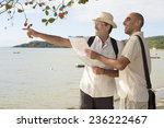 sightseeing  gay couple on... | Shutterstock . vector #236222467