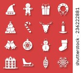 christmas and new year icons... | Shutterstock .eps vector #236222881