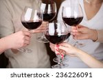 woman hands with glasses of... | Shutterstock . vector #236226091