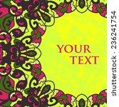 folk motif frame for text...   Shutterstock .eps vector #236241754