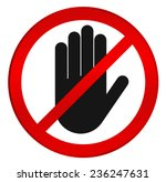 stop  no entry  red stop hand... | Shutterstock .eps vector #236247631