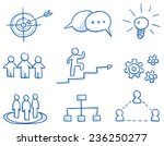 icon set business strategy  ... | Shutterstock .eps vector #236250277