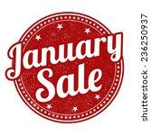 january sale grunge rubber... | Shutterstock .eps vector #236250937