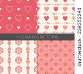 set of valentine geometric... | Shutterstock .eps vector #236252341