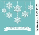vector snowflakes. abstract... | Shutterstock .eps vector #236253955