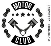 vintage motor club signs and... | Shutterstock .eps vector #236262817