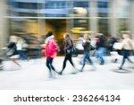 a shopper walking past a store... | Shutterstock . vector #236264134