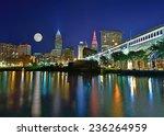 Moonrise Over Cleveland Ohio...