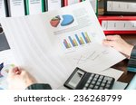 female accountant checking... | Shutterstock . vector #236268799