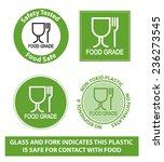 green food grade plastic symbol ... | Shutterstock .eps vector #236273545