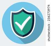 vector shield with check mark... | Shutterstock .eps vector #236273974