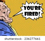 comic illustrated boss yelling... | Shutterstock . vector #236277661