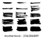 ink hand drawn brush strokes.... | Shutterstock .eps vector #236286889