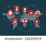 flat social media and network... | Shutterstock .eps vector #236292919
