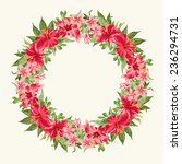 vector round frame with red ... | Shutterstock .eps vector #236294731