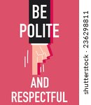 word be polite and respectful | Shutterstock .eps vector #236298811