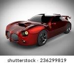 red luxury brandless sport car... | Shutterstock . vector #236299819