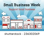 small business week  main... | Shutterstock .eps vector #236302069