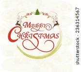 merry christmas celebrations... | Shutterstock .eps vector #236314567