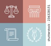vector set of juridical and... | Shutterstock .eps vector #236328151