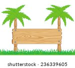 pointer threaded wooden on two... | Shutterstock .eps vector #236339605
