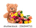 bunch of mix color roses and a... | Shutterstock . vector #236344711