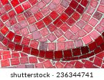 Red Tiles Mosaic Wall Background