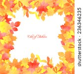 floral template with... | Shutterstock .eps vector #236346235