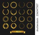 vector emblems. laurel wreath.... | Shutterstock .eps vector #236347507