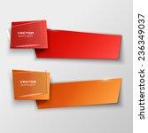 origami paper infographic... | Shutterstock .eps vector #236349037