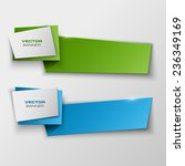 origami paper infographic... | Shutterstock .eps vector #236349169