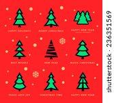 vector christmas trees... | Shutterstock .eps vector #236351569