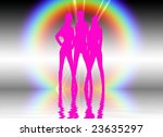 set in a night club dancing... | Shutterstock . vector #23635297