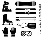 set of ski accessories great... | Shutterstock .eps vector #236368981