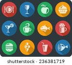 food and drink button set | Shutterstock .eps vector #236381719