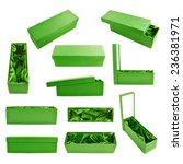 Set Of Multiple Green Tall Gift ...