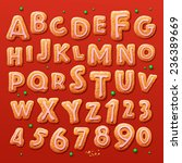 christmas gingerbread cookies... | Shutterstock .eps vector #236389669