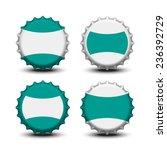 bottle caps vector  | Shutterstock .eps vector #236392729