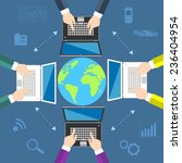 teamwork. concept of global... | Shutterstock . vector #236404954