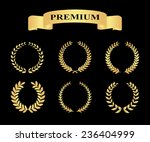 set of golden silhouette... | Shutterstock . vector #236404999