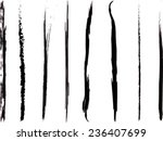 set of grunge brush strokes | Shutterstock .eps vector #236407699