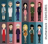 set of people icons in flat... | Shutterstock .eps vector #236413801