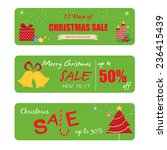 christmas sale label and icon... | Shutterstock .eps vector #236415439