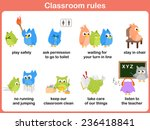 classroom rules for kids | Shutterstock .eps vector #236418841