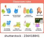 classroom rules for kids | Shutterstock .eps vector #236418841
