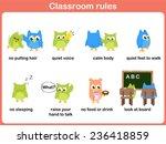 classroom rules for kids | Shutterstock .eps vector #236418859