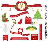christmas label and icon   Shutterstock .eps vector #236419234