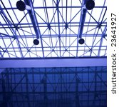 blue glass ceiling in office... | Shutterstock . vector #23641927